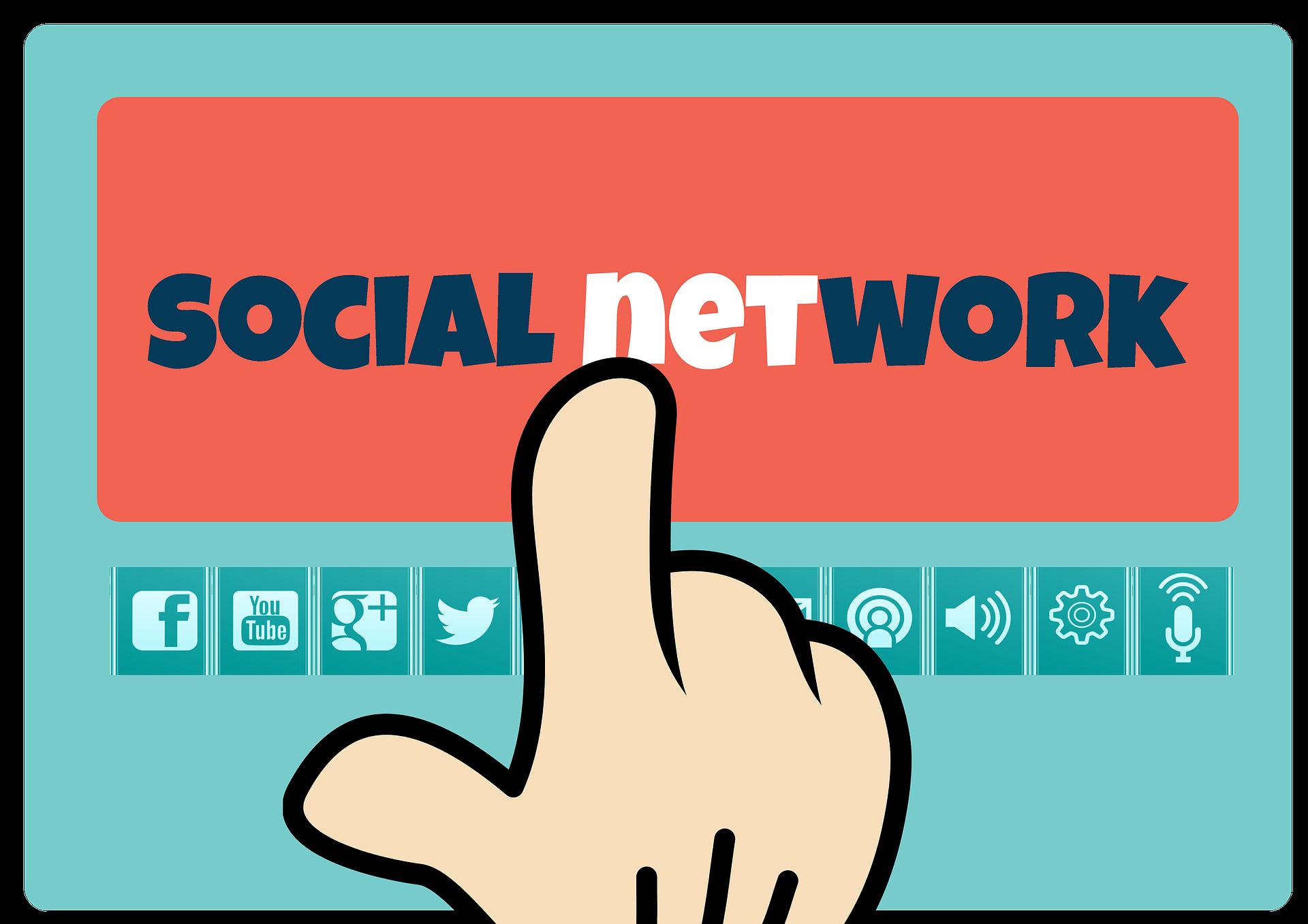 redes sociales, trabajo, mano mickey mouse