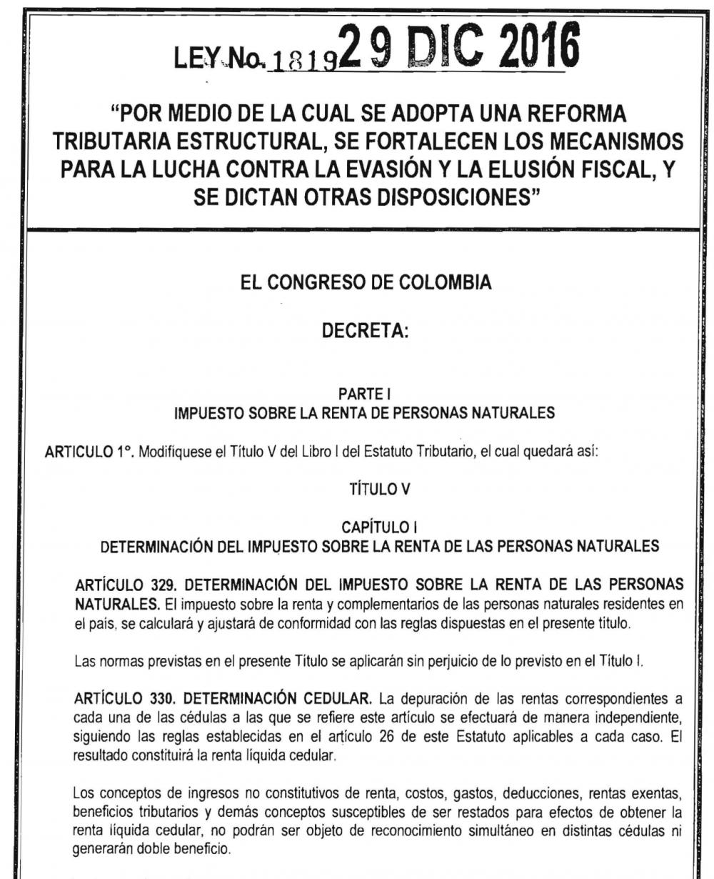 reforma tributaria Colombia 2016