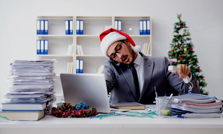 Organiza tu trabajo antes de la fecha de Navidad